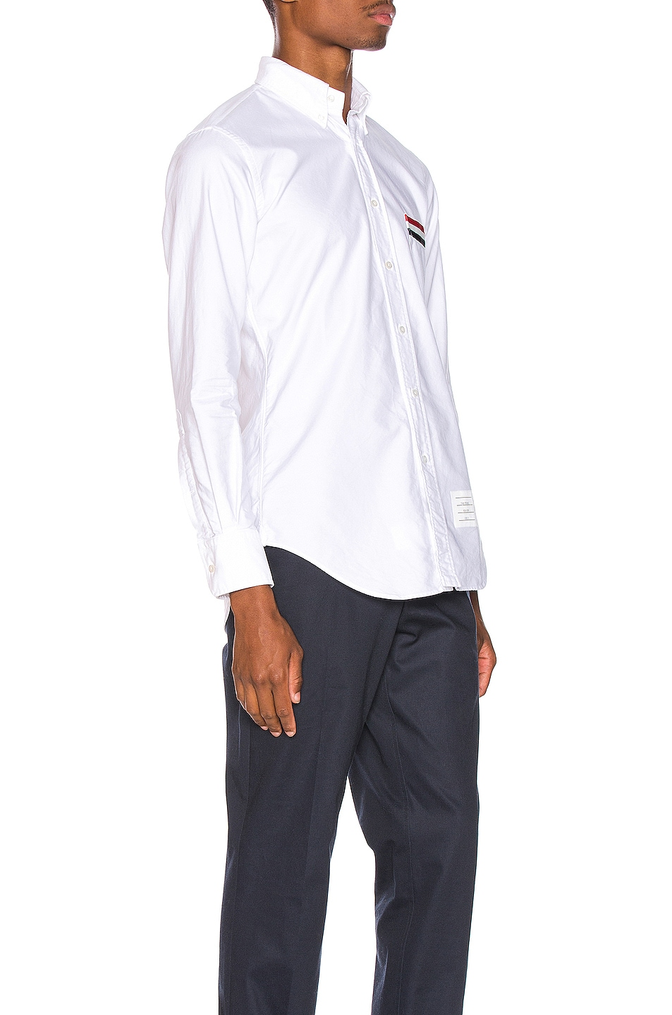 Image 2 of Thom Browne Pocket Collar Button Down Shirt in White