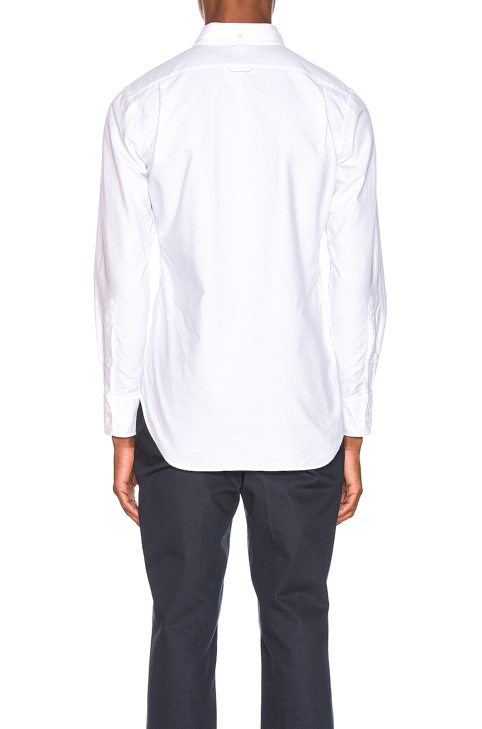 Image 4 of Thom Browne Pocket Collar Button Down Shirt in White