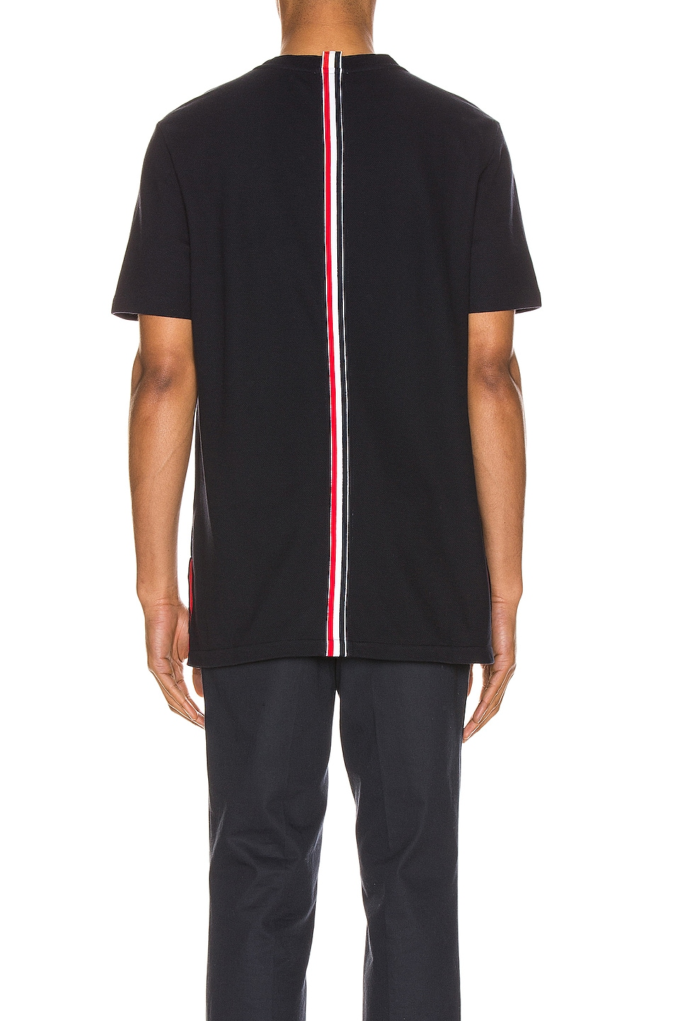 Image 5 of Thom Browne Relaxed Stripe Tee in Navy