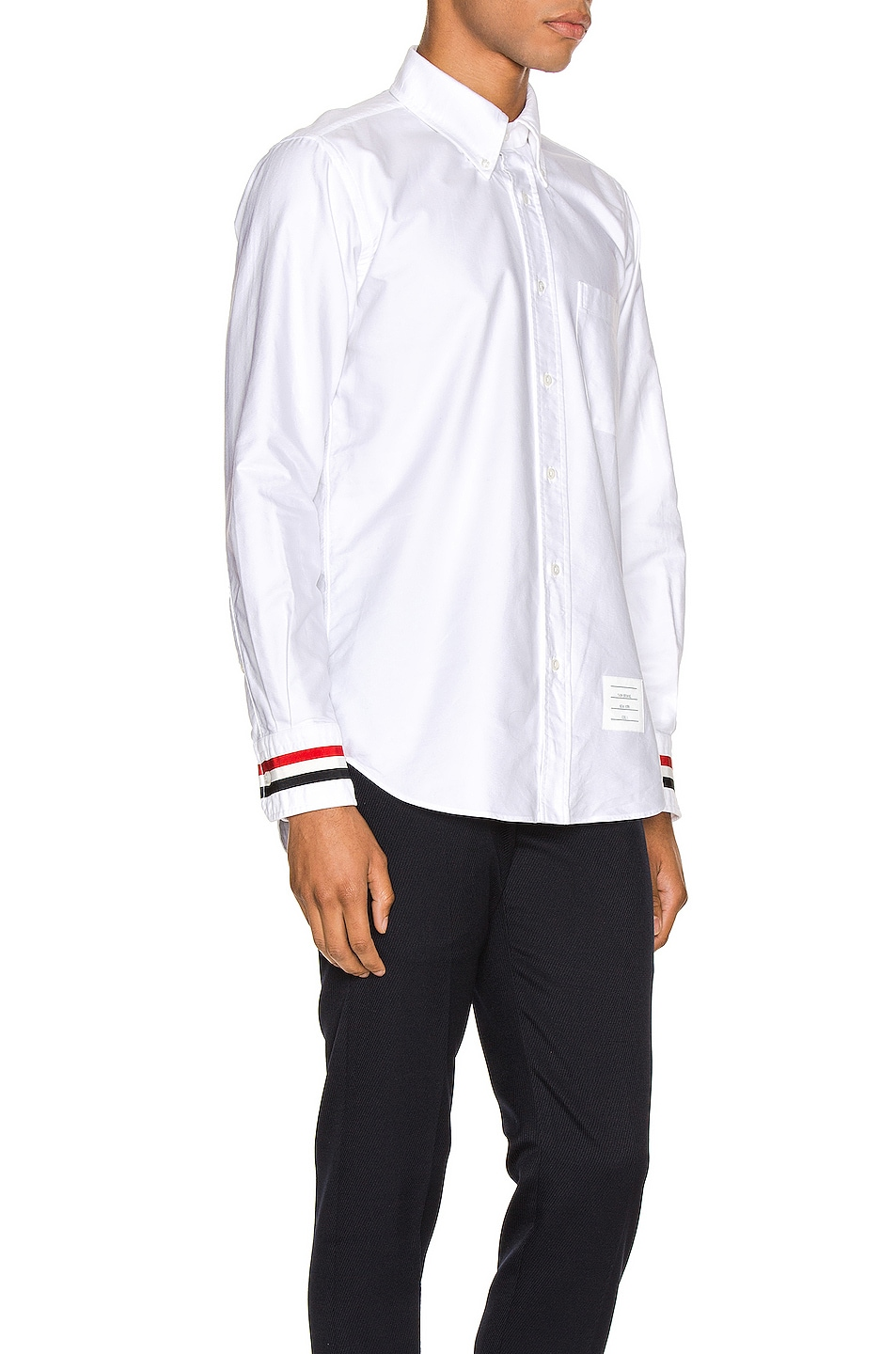 Image 2 of Thom Browne Classic Point Collar Button Up Shirt in White