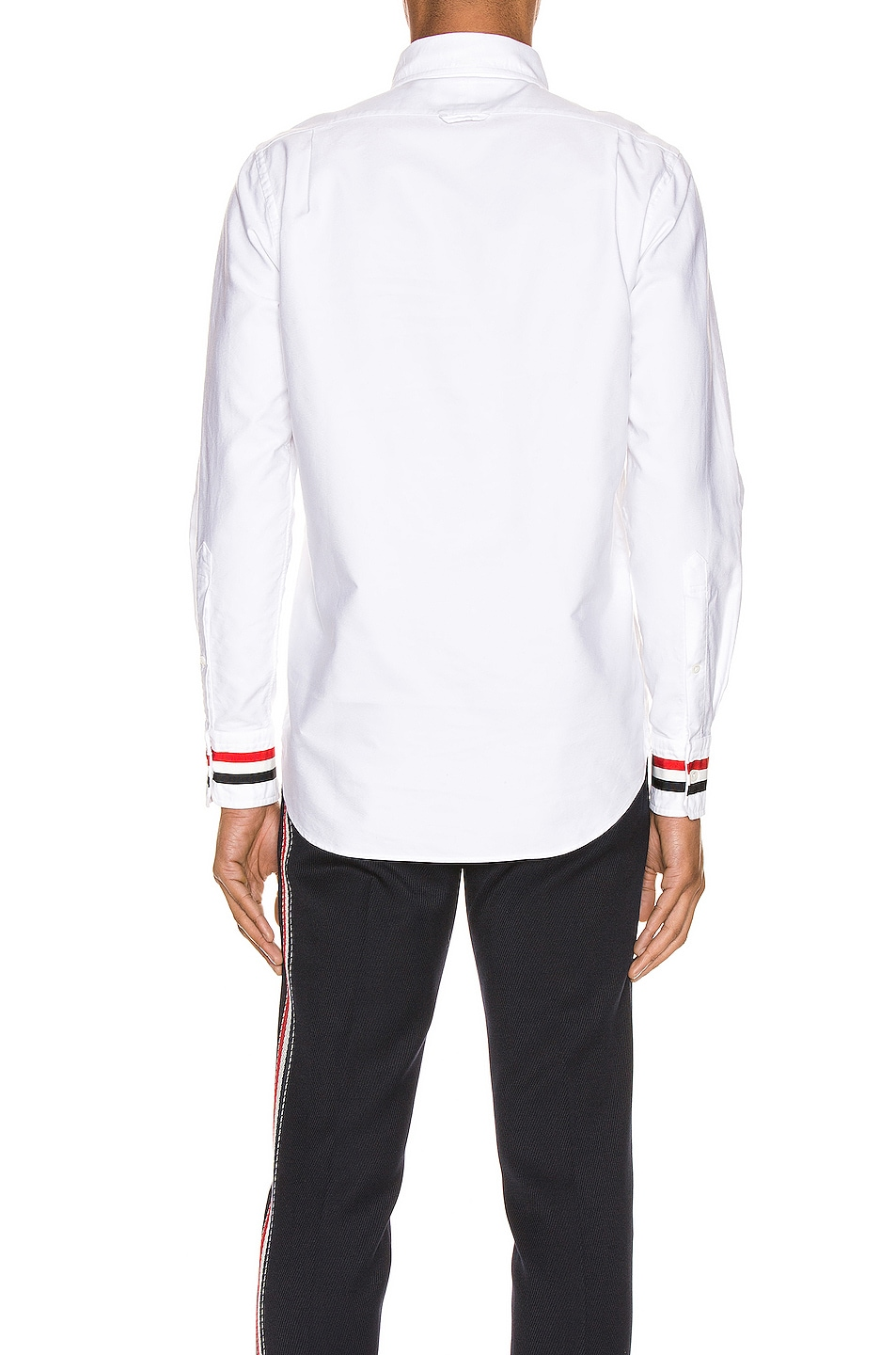 Image 3 of Thom Browne Classic Point Collar Button Up Shirt in White