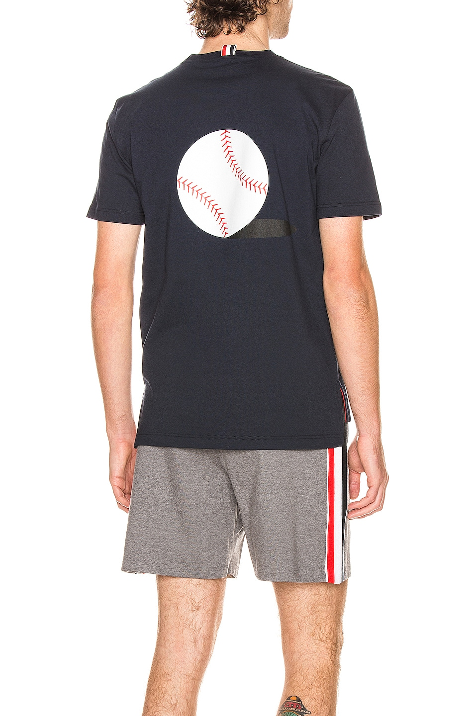 Image 1 of Thom Browne Printed Icon Tee in Navy