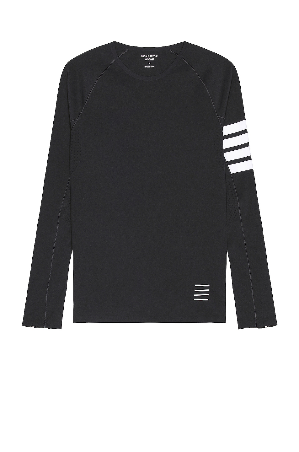 Image 1 of Thom Browne 4 Bar Compression Tee in Charcoal