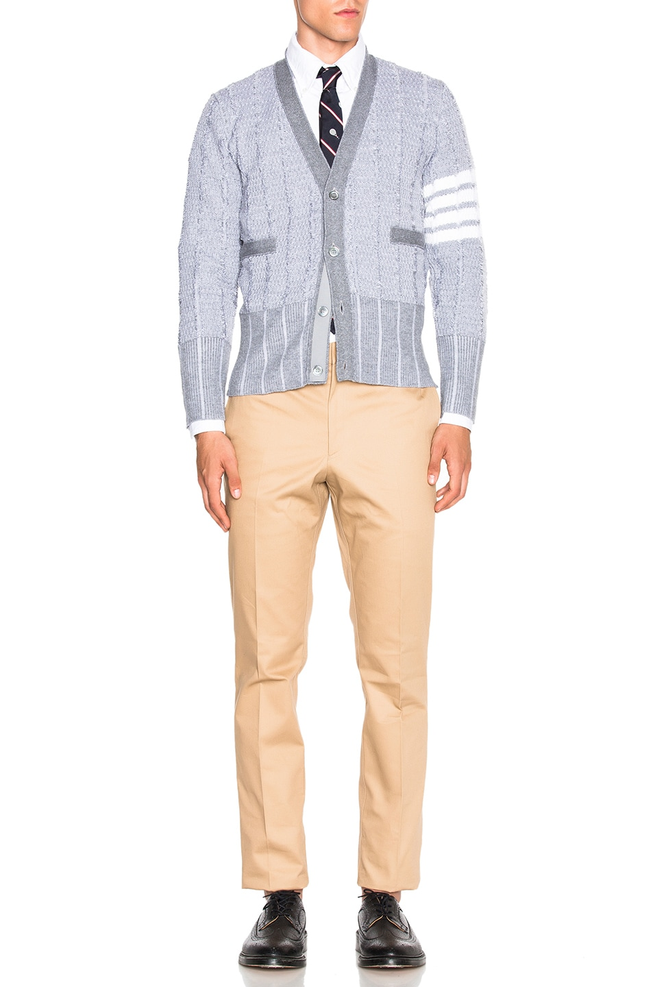 Image 5 of Thom Browne Classic Button Down with Ribbon Placket in White