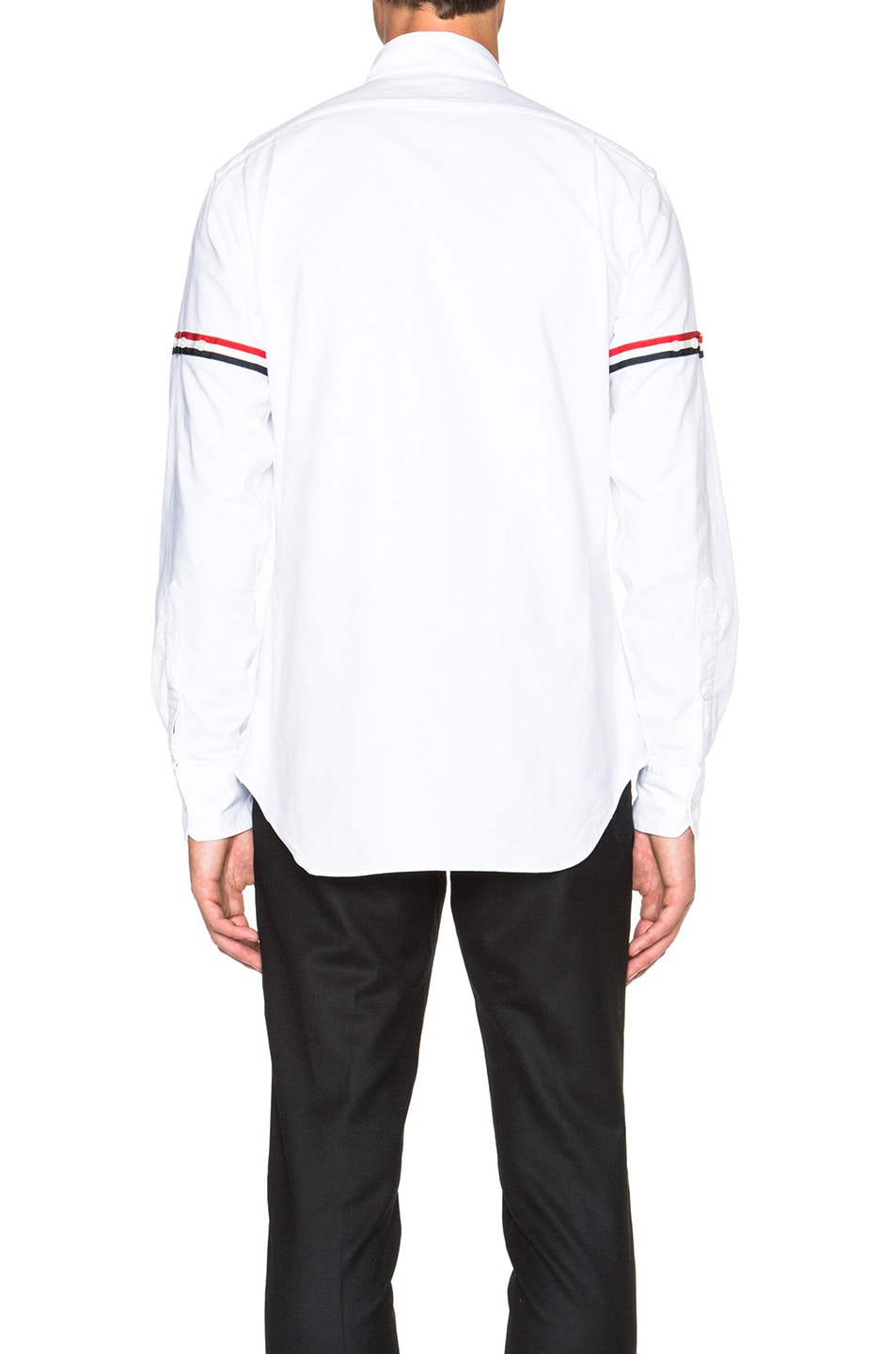 Image 4 of Thom Browne Classic Button Down with Grosgrain Armbands in White
