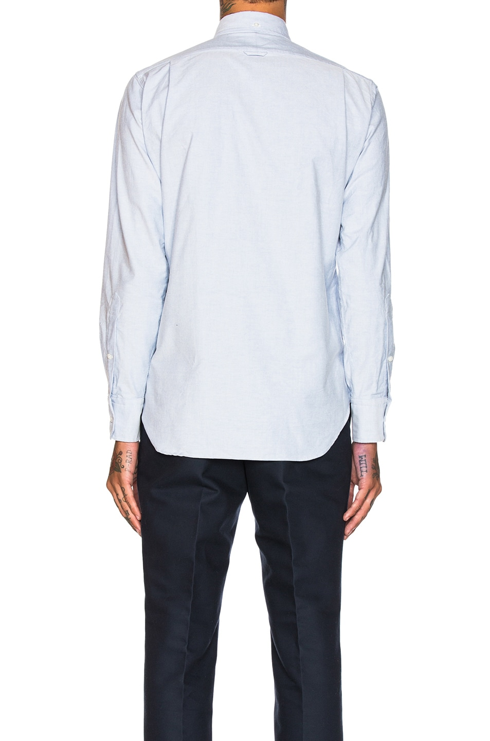 Image 4 of Thom Browne Classic Oxford Shirt in Light Blue