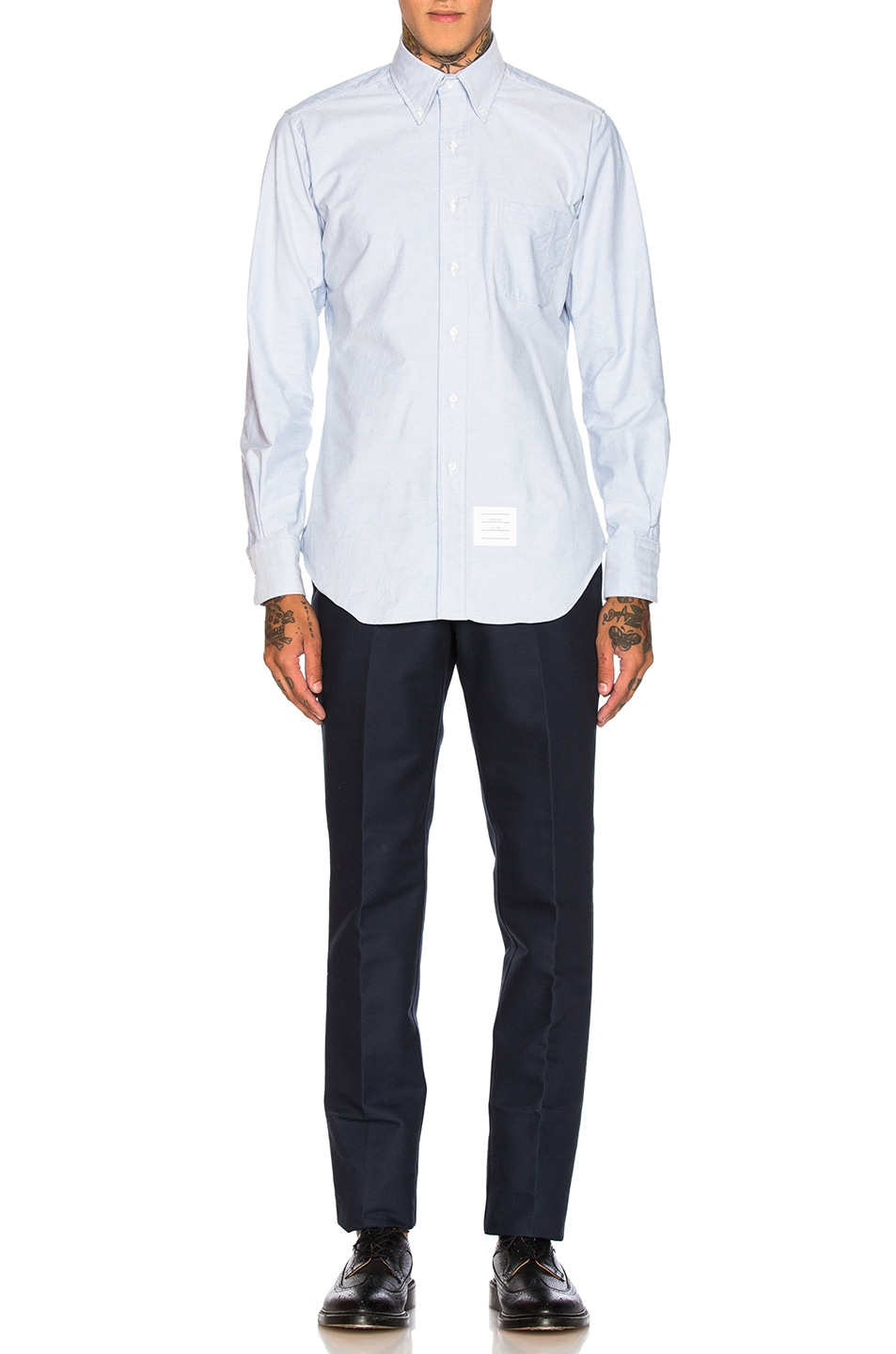 Image 5 of Thom Browne Classic Oxford Shirt in Light Blue