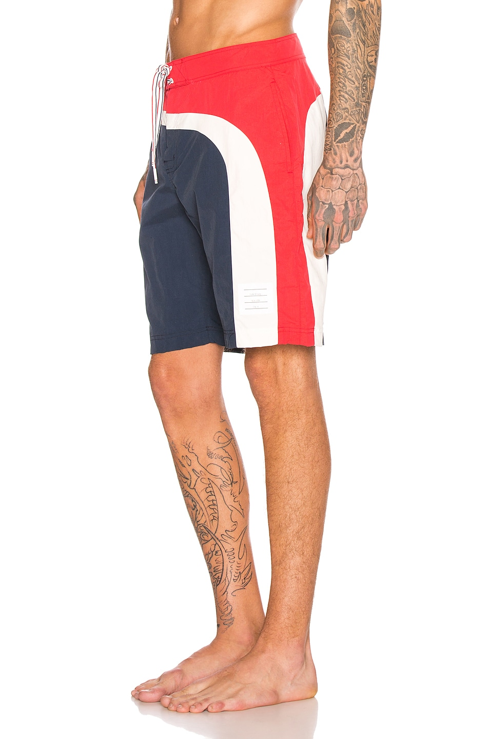 Image 3 of Thom Browne Board Shorts in Navy