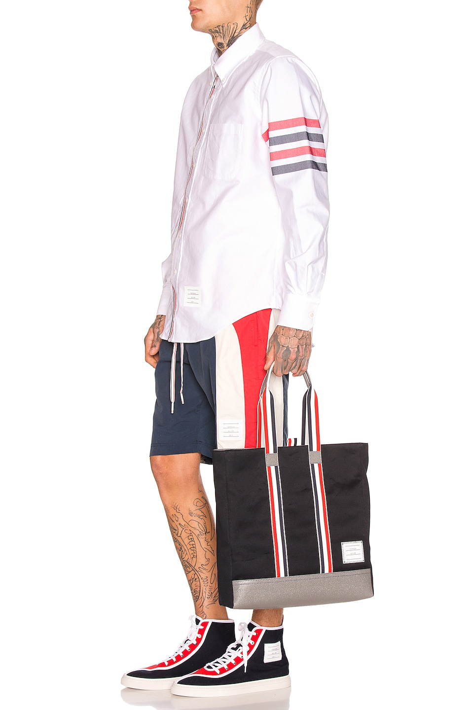 Image 5 of Thom Browne Board Shorts in Navy