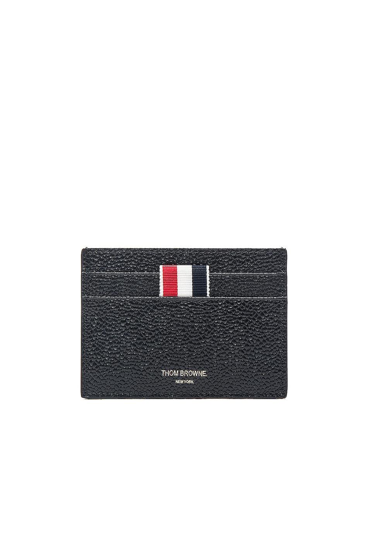 Credit Card Holder In Black Pebble Grain