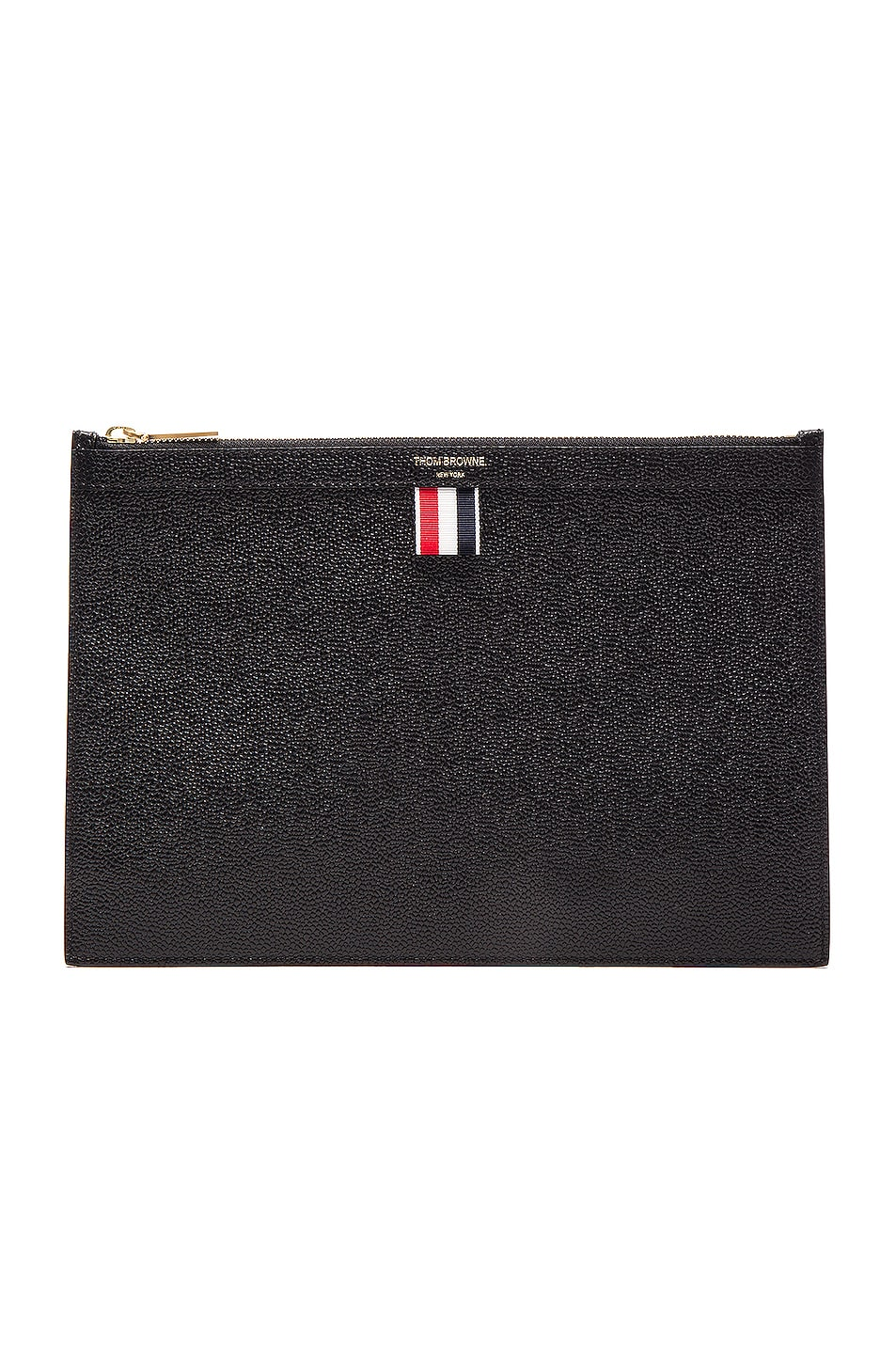 ca81c38838 Image 1 of Thom Browne Small Zipper Tablet Holder in Black
