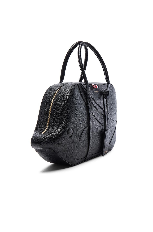 5059086f9 Image 3 of Thom Browne Pebble Grain Trigger Reef Fish Bag in Black
