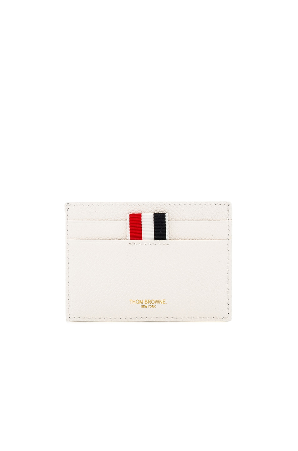797d636079 Image 1 of Thom Browne Pebble Grain & Calf Leather Tennis Racket Card Holder  in Navy