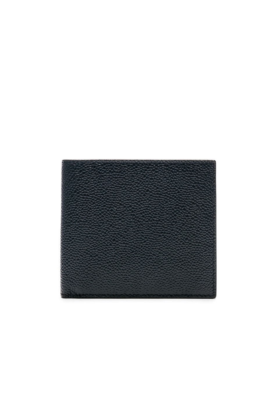 Thom Browne Leathers THOM BROWNE PEBBLE GRAIN BILLFOLD IN BLUE