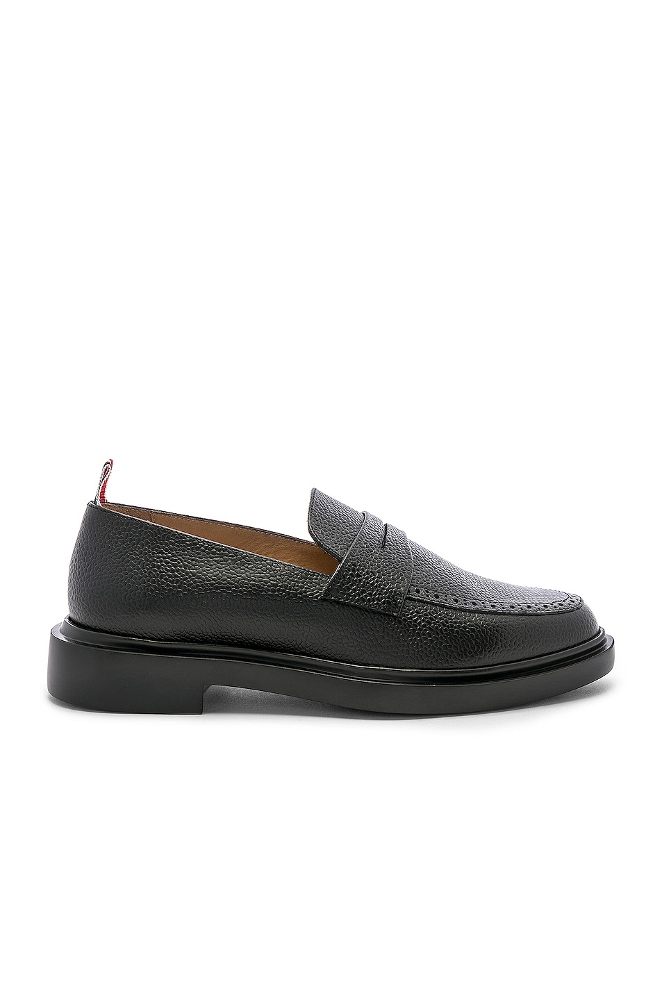 Image 1 of Thom Browne Rubber Sole Loafer in Black