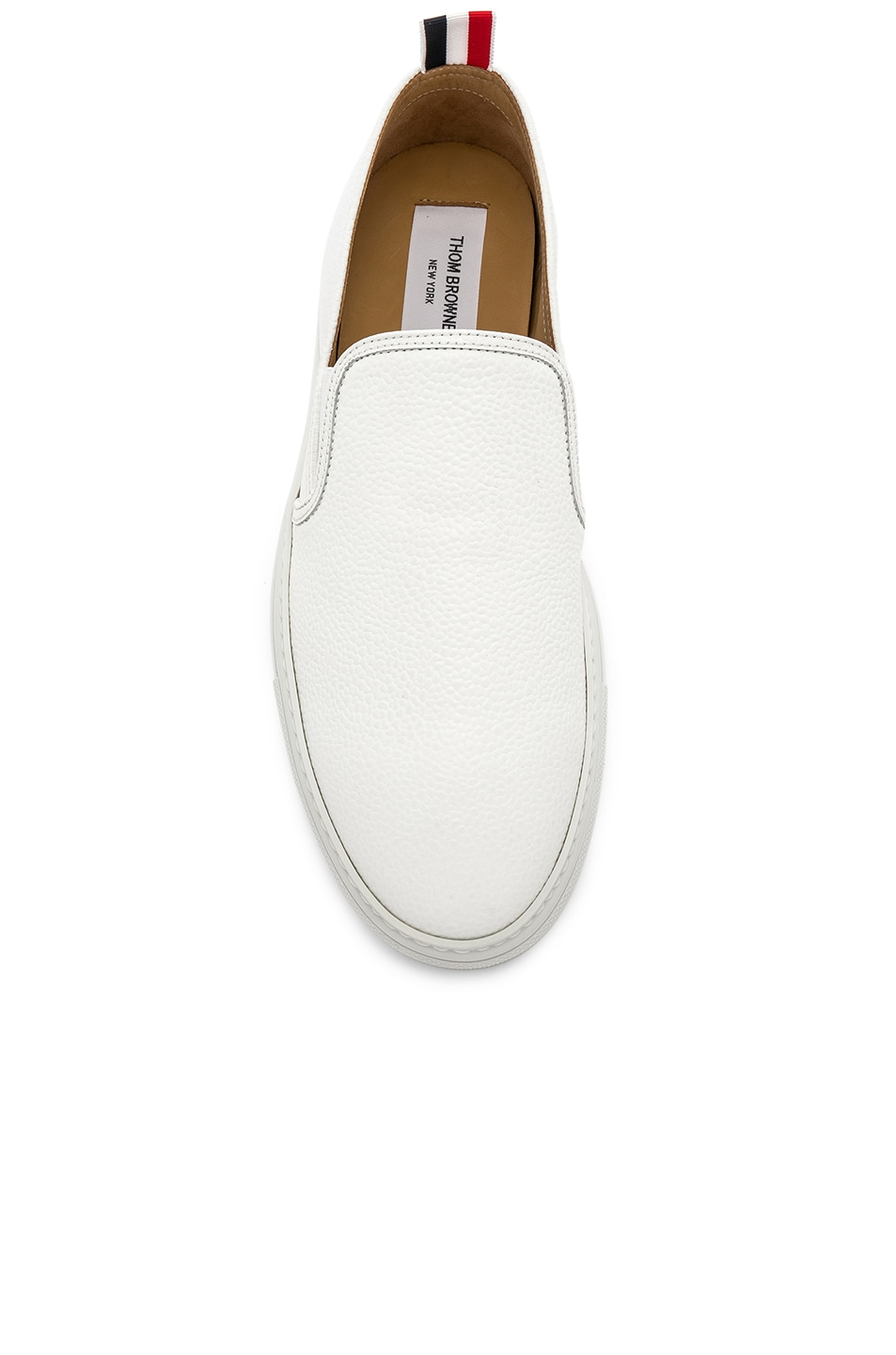 Image 4 of Thom Browne Slip On Trainer in White