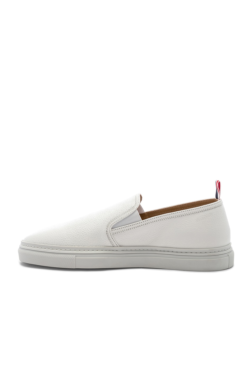 Image 5 of Thom Browne Slip On Trainer in White