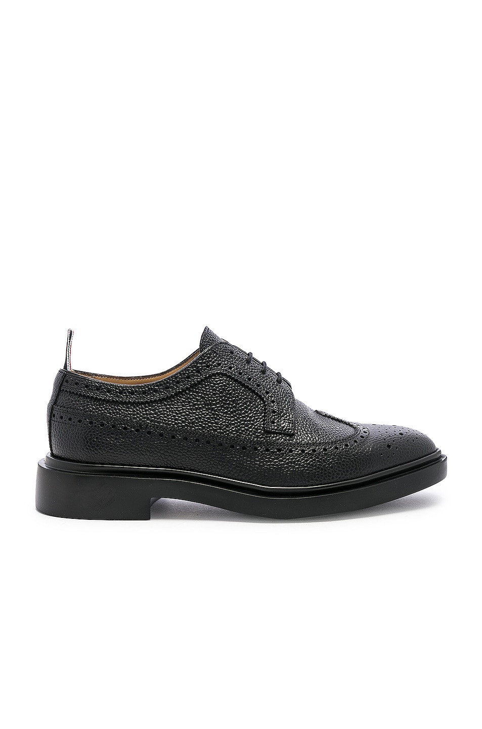 Image 1 of Thom Browne Rubber Sole Brogue in Black