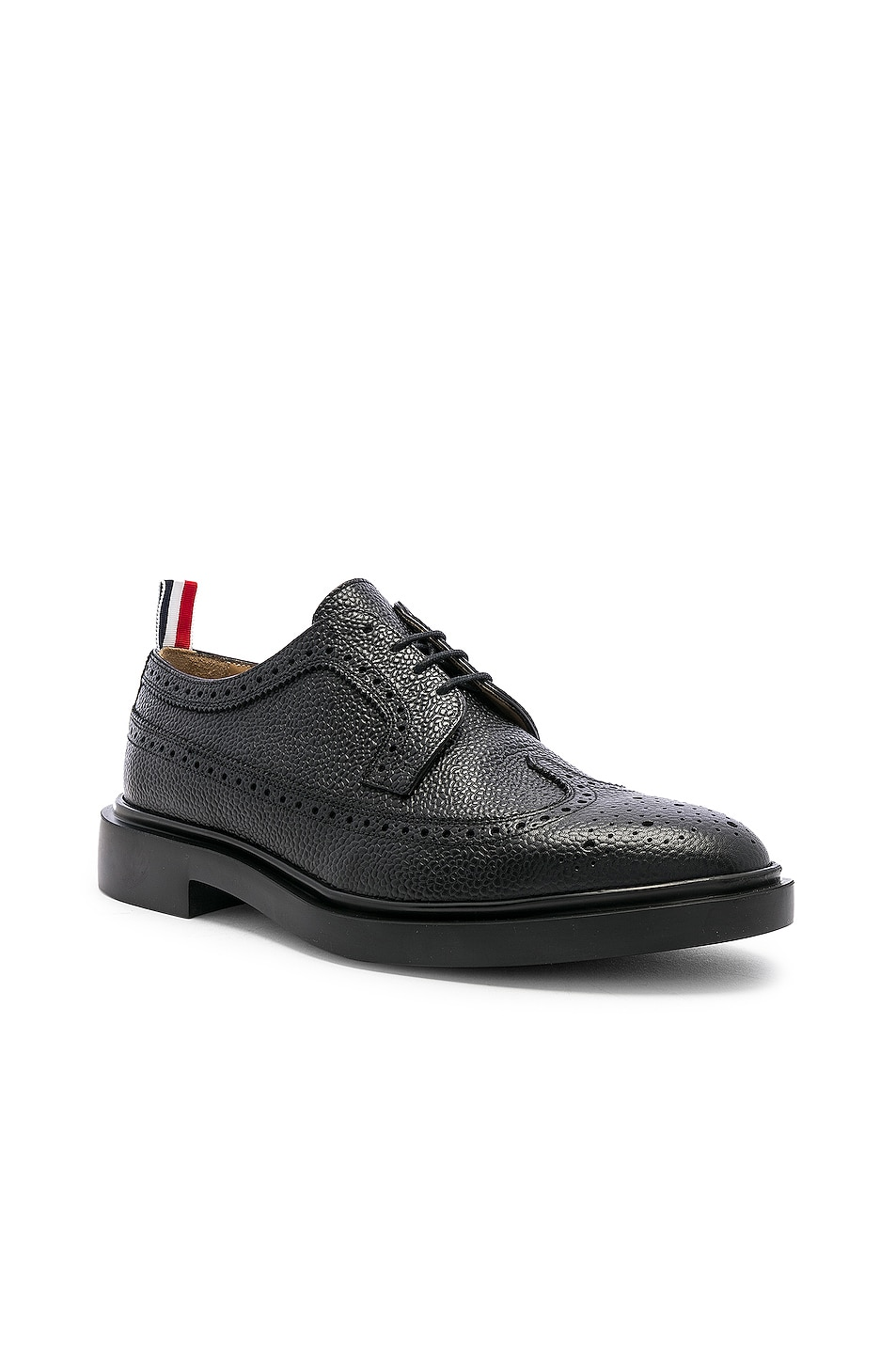Image 2 of Thom Browne Rubber Sole Brogue in Black
