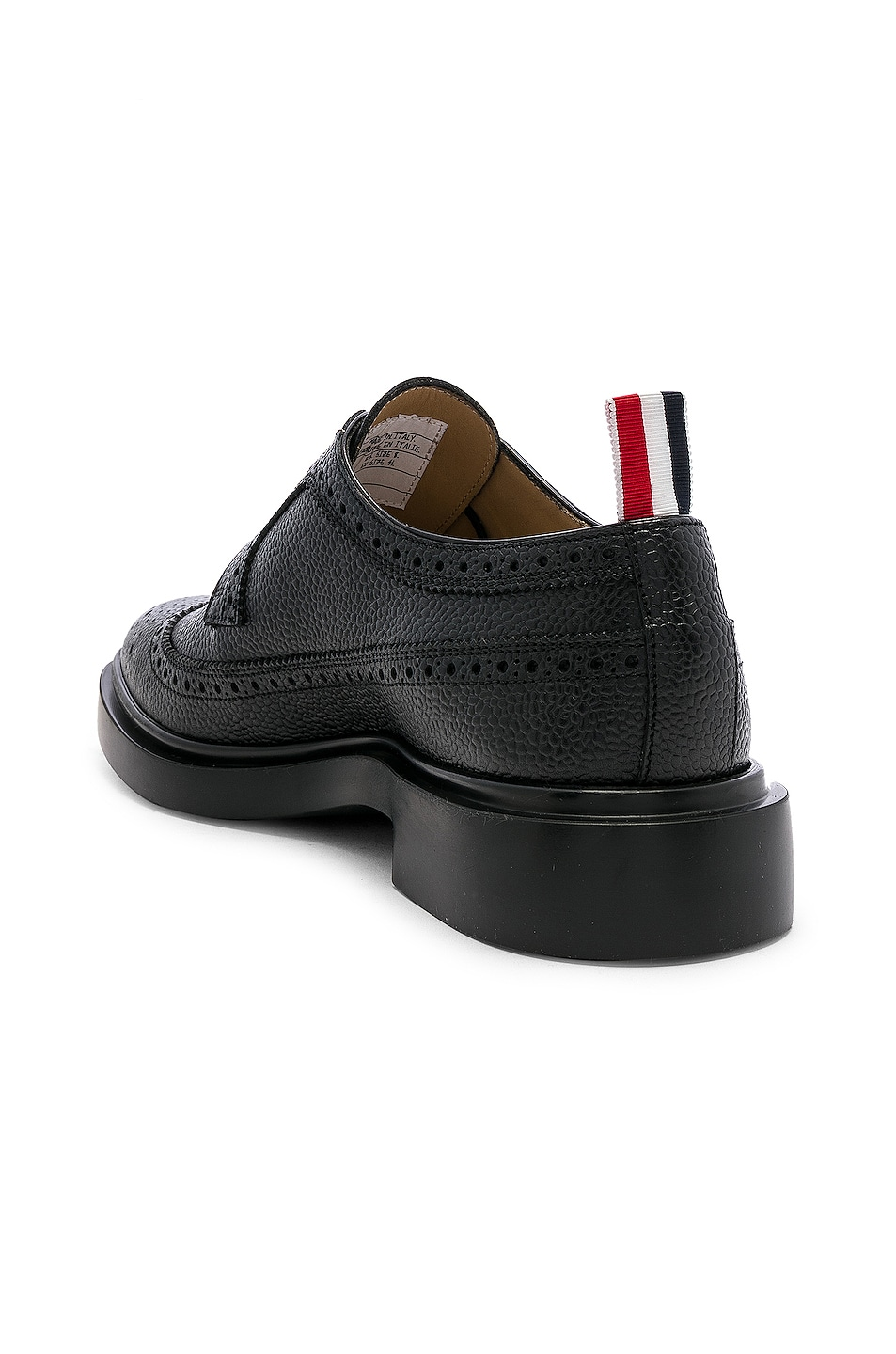 Image 3 of Thom Browne Rubber Sole Brogue in Black