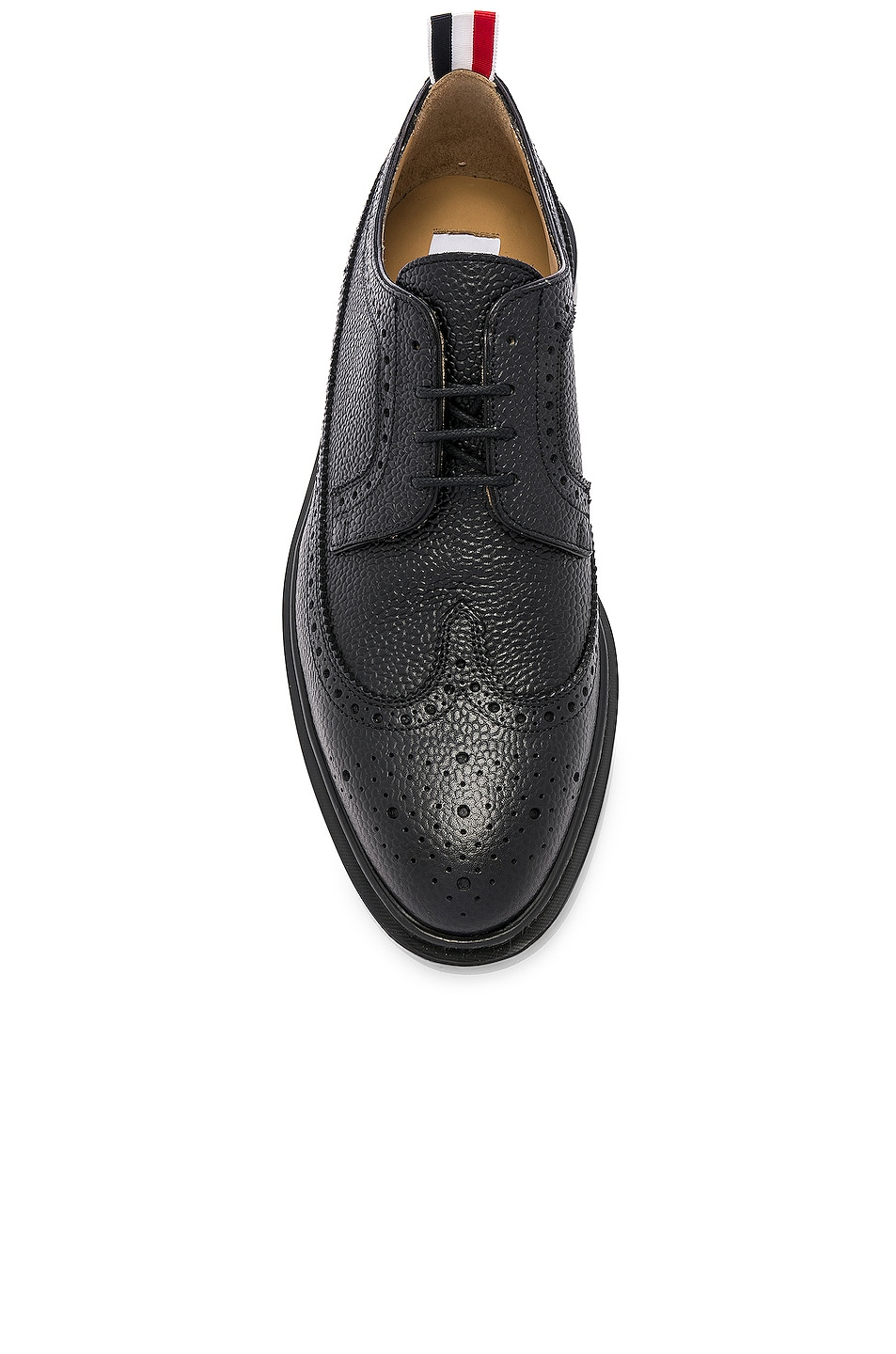 Image 4 of Thom Browne Rubber Sole Brogue in Black