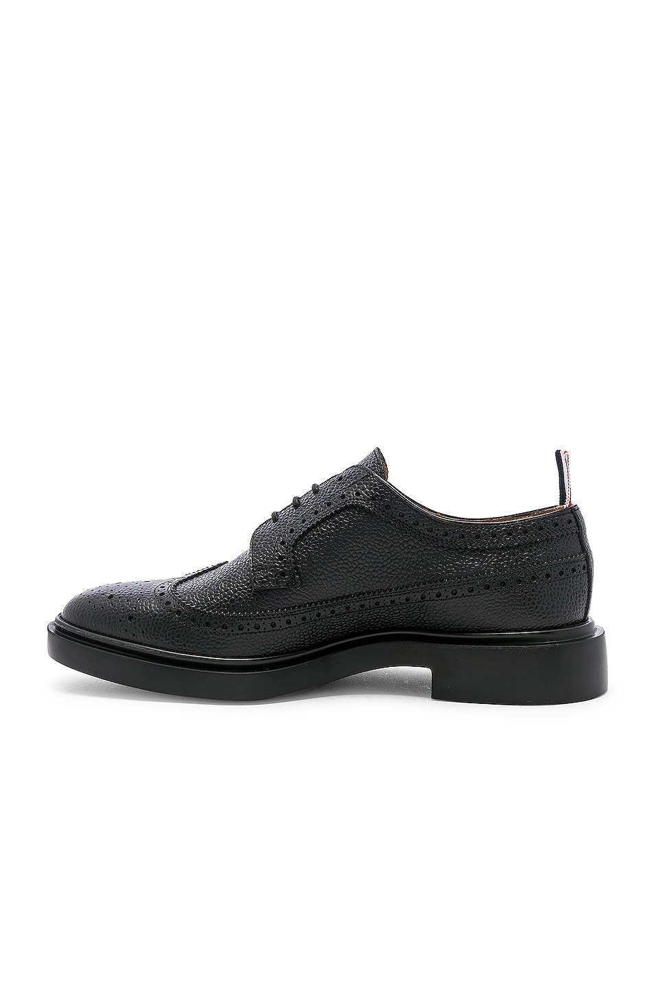 Image 5 of Thom Browne Rubber Sole Brogue in Black