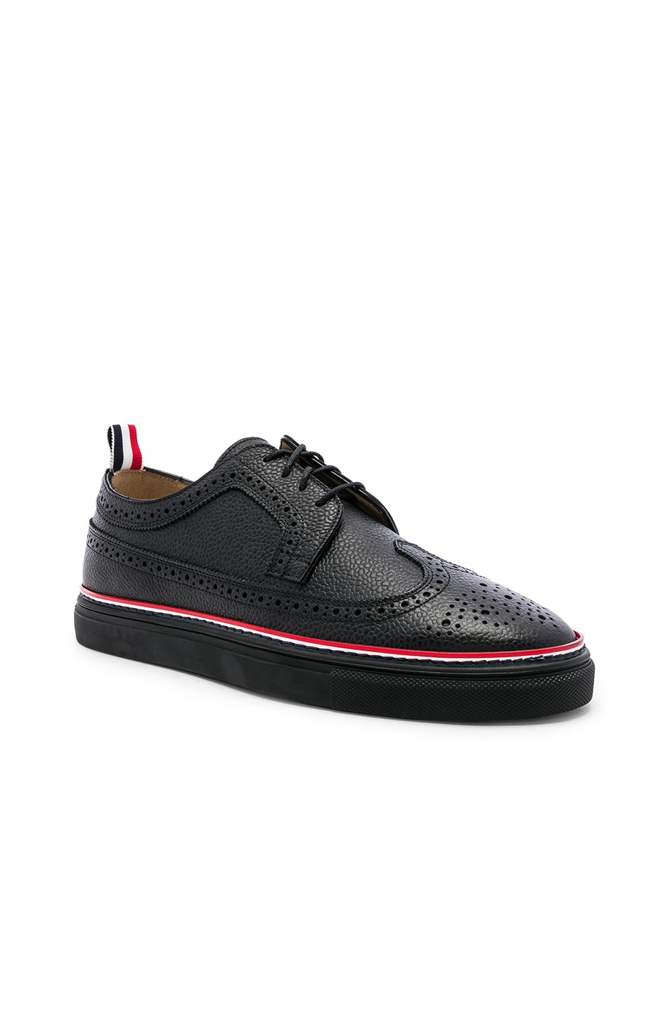 Image 1 of Thom Browne Brogue Sneaker in Black