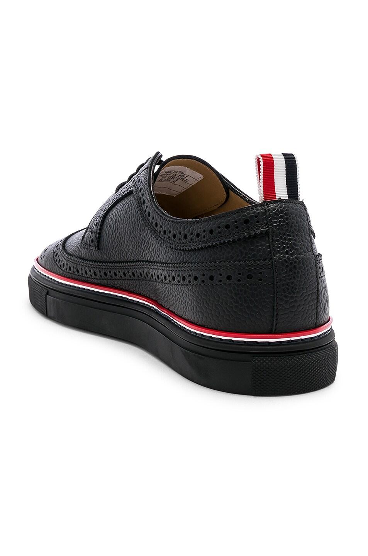 Image 3 of Thom Browne Brogue Sneaker in Black