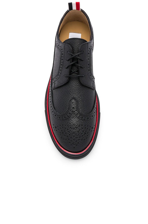Image 4 of Thom Browne Brogue Sneaker in Black