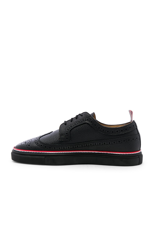 Image 5 of Thom Browne Brogue Sneaker in Black