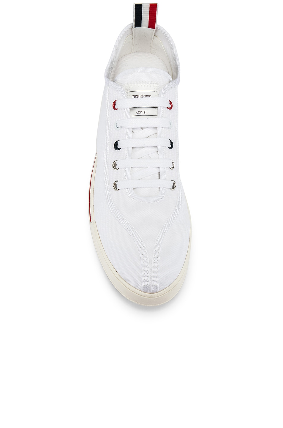 Image 4 of Thom Browne Trainer Paper Label Sneaker in White