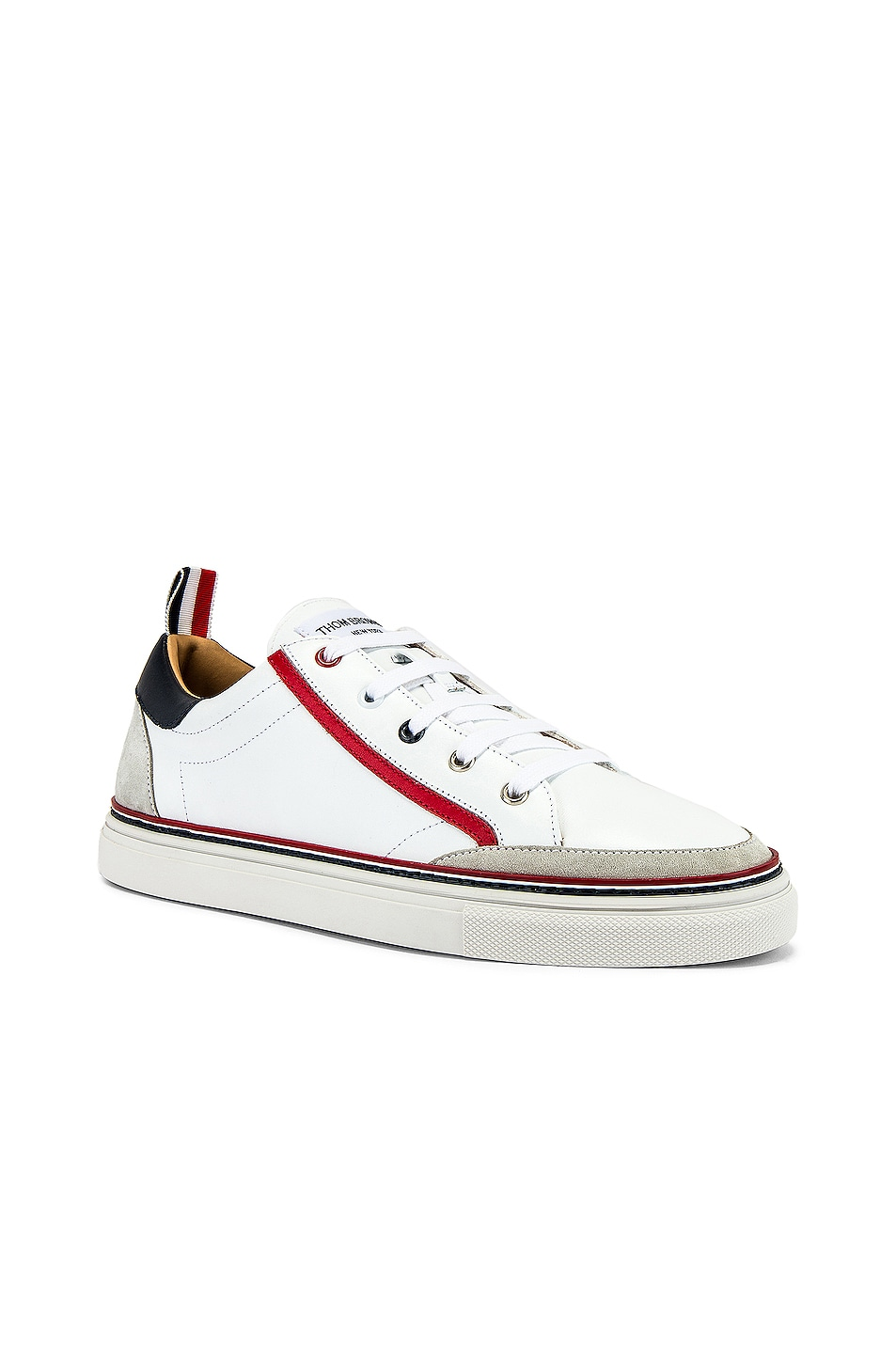 Image 1 of Thom Browne Leather Sneaker in White