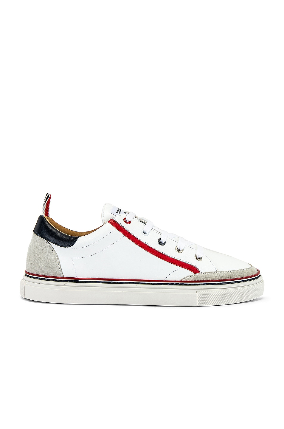 Image 2 of Thom Browne Leather Sneaker in White