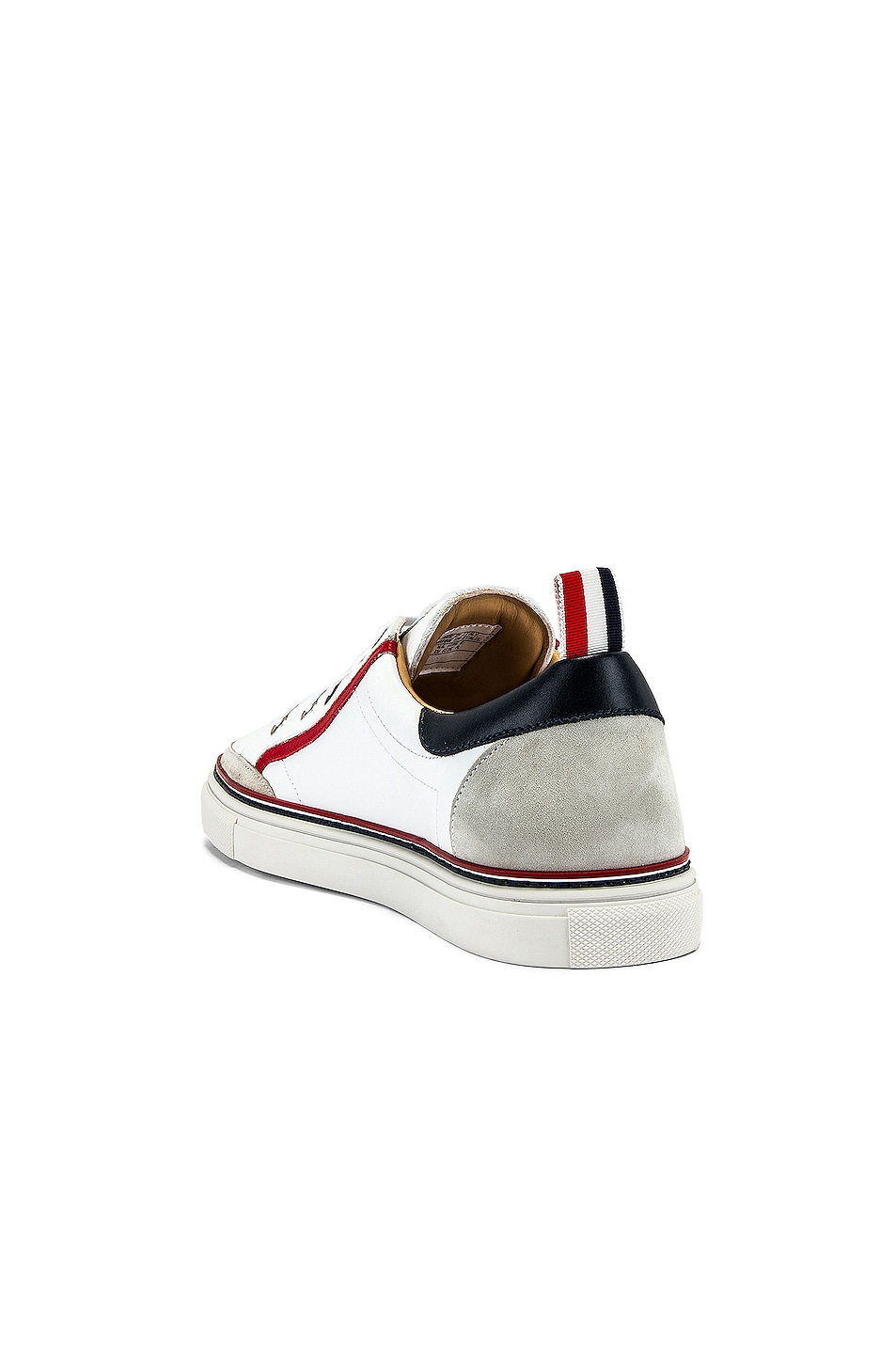 Image 3 of Thom Browne Leather Sneaker in White