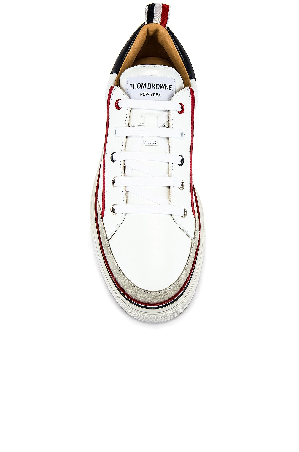 Image 4 of Thom Browne Leather Sneaker in White
