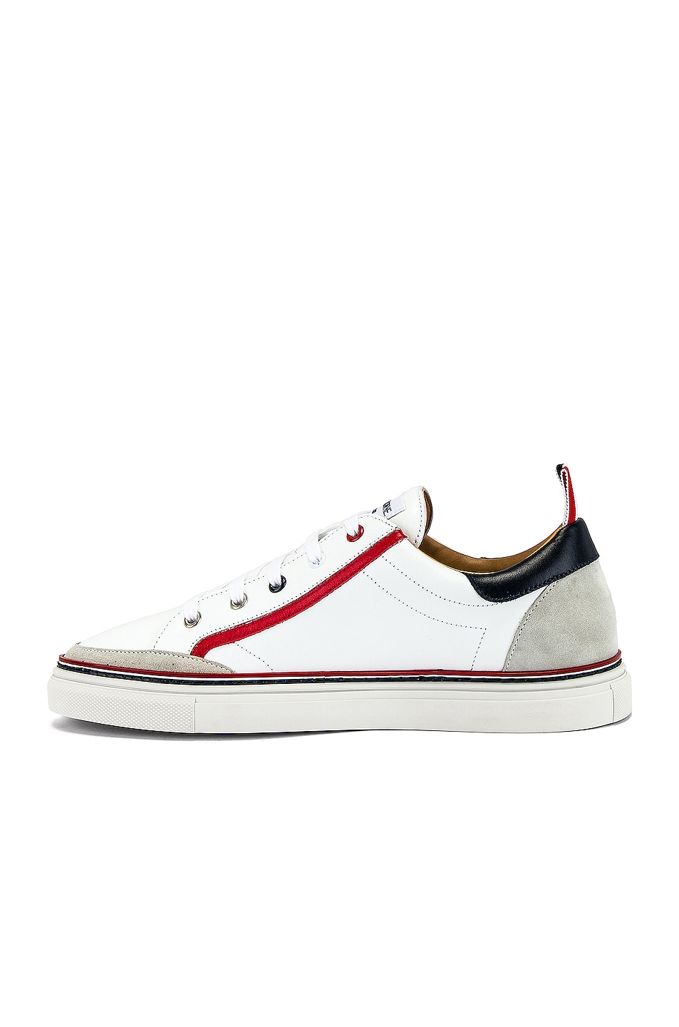 Image 5 of Thom Browne Leather Sneaker in White