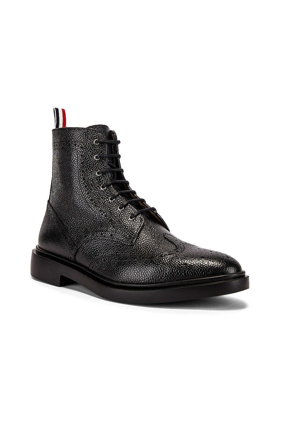 Image 1 of Thom Browne Classic Wingtip Boot in Black