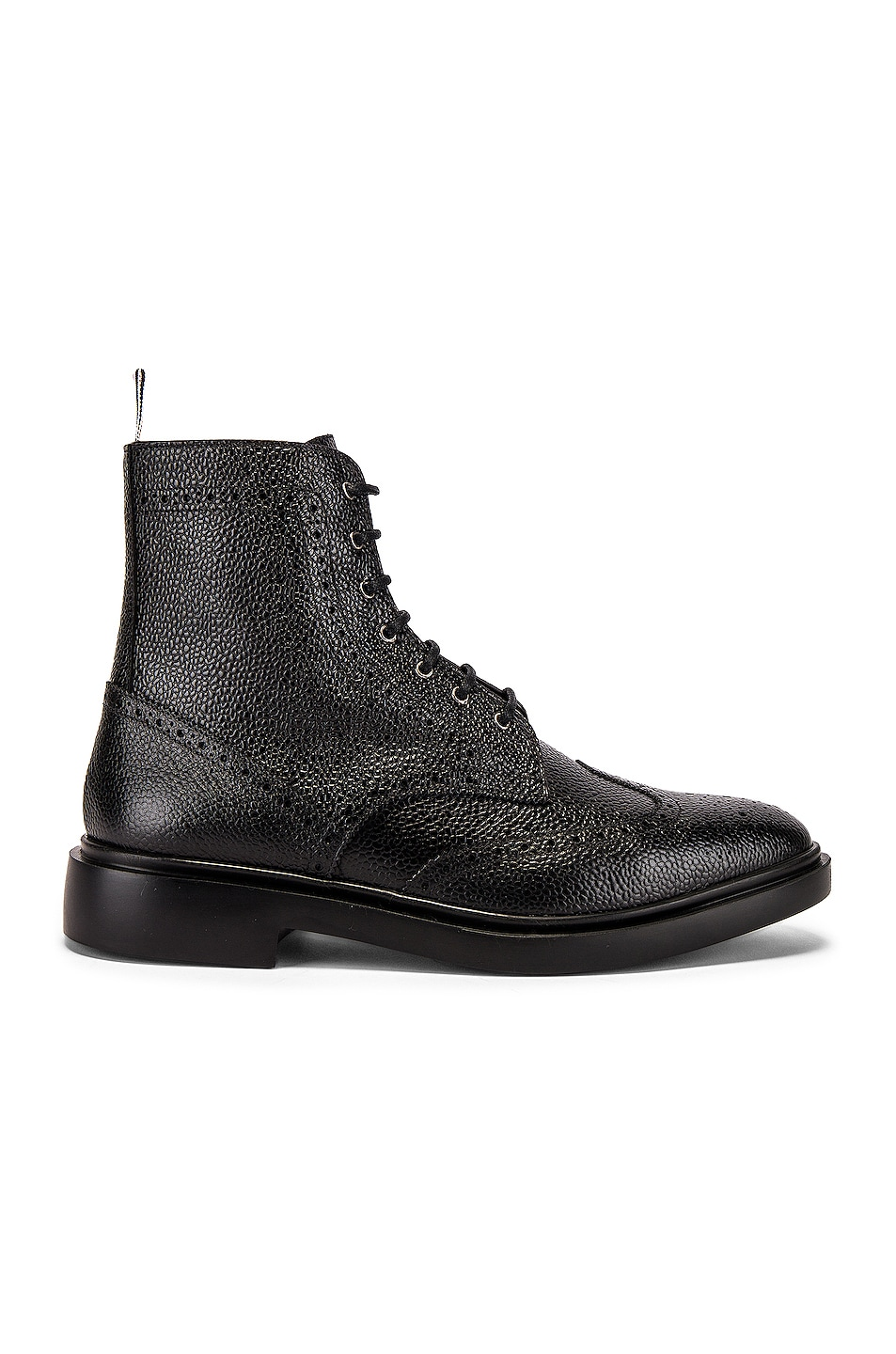 Image 2 of Thom Browne Classic Wingtip Boot in Black