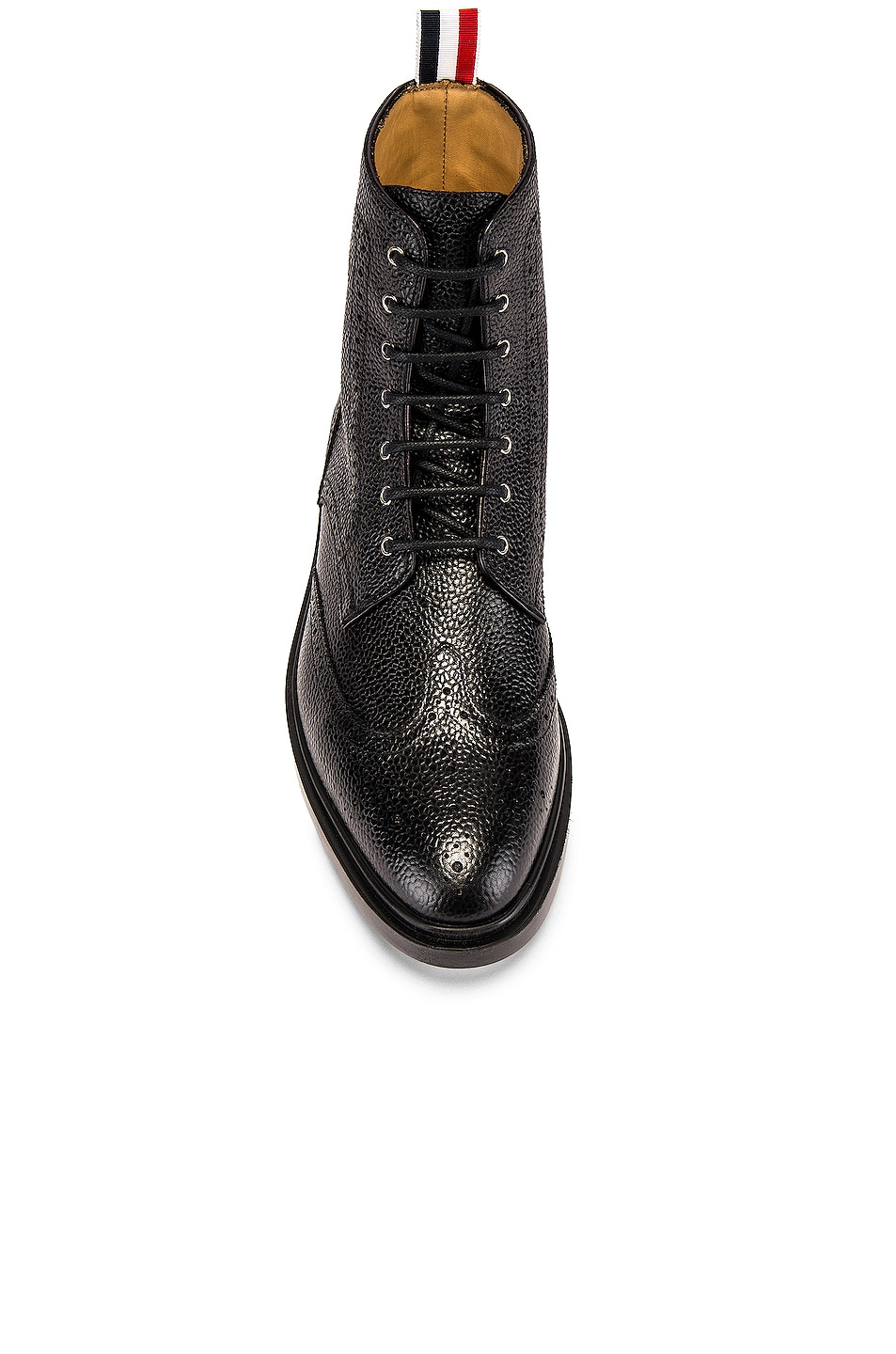 Image 4 of Thom Browne Classic Wingtip Boot in Black