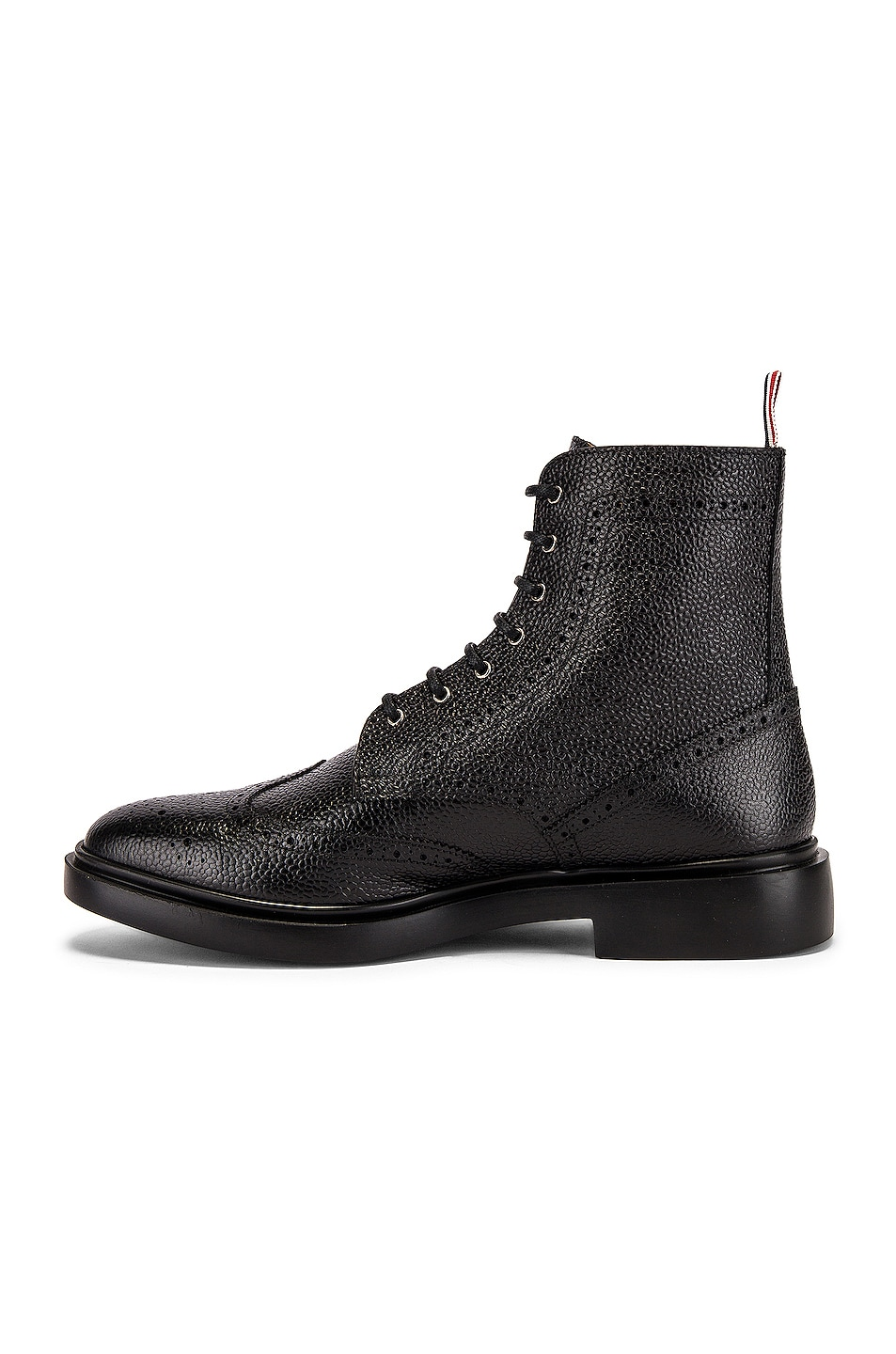 Image 5 of Thom Browne Classic Wingtip Boot in Black