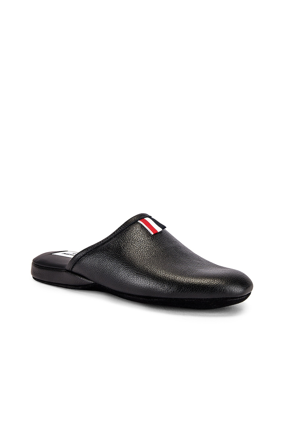Image 1 of Thom Browne Grossgrain Slipper in Black