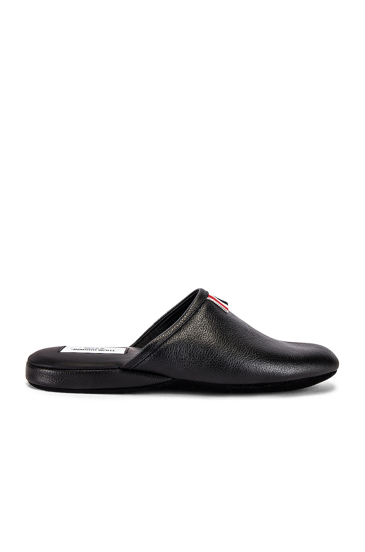 Image 2 of Thom Browne Grossgrain Slipper in Black