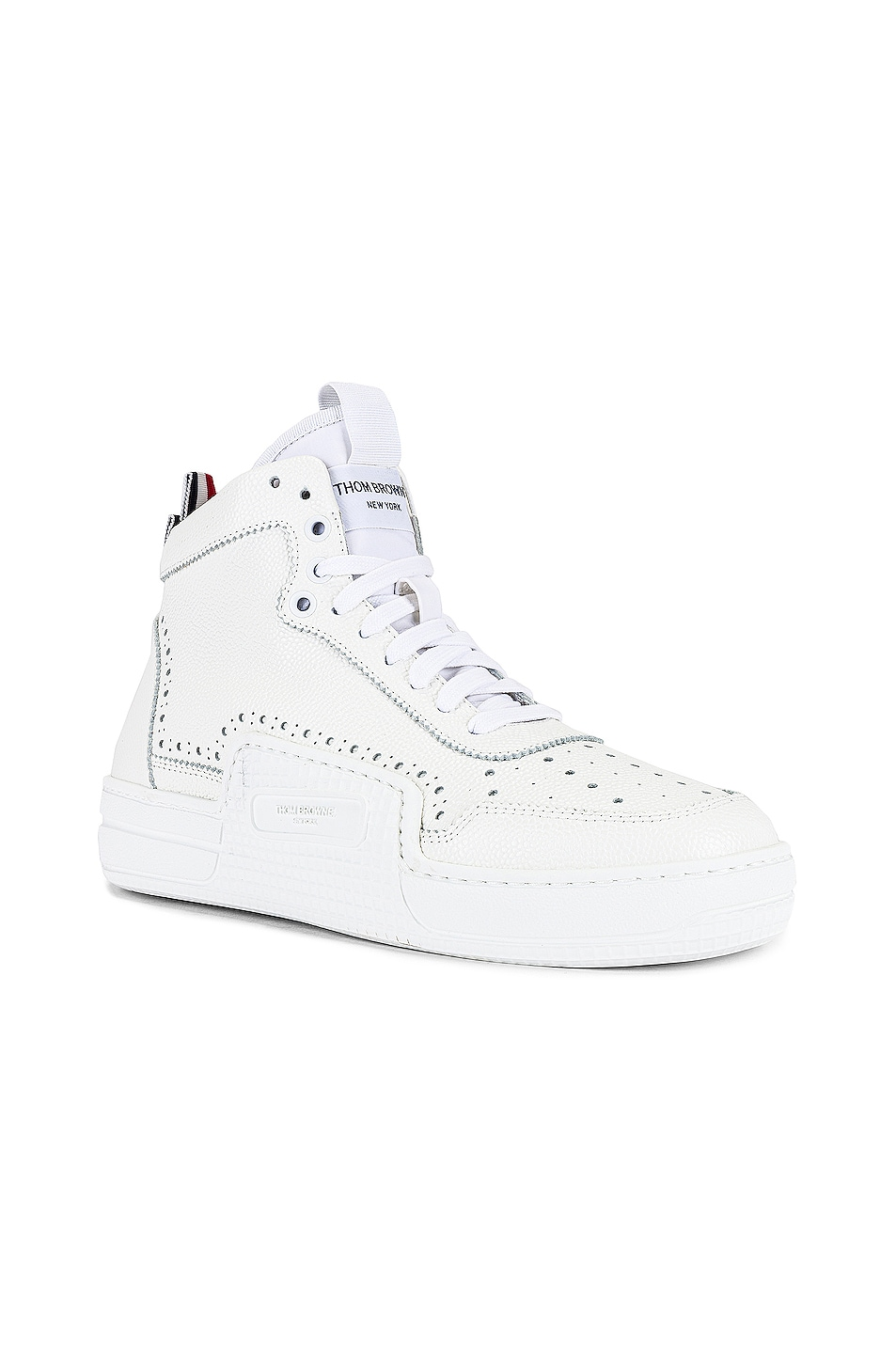 Image 1 of Thom Browne Basketball High Top Sneaker in White