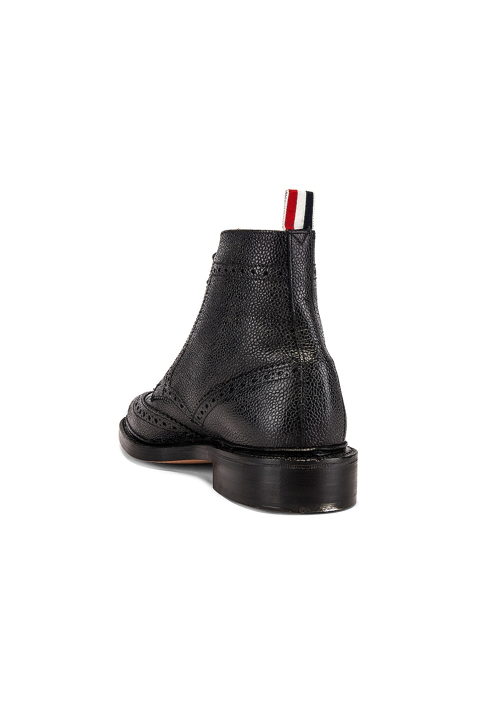 Image 3 of Thom Browne Wingtip Leather Boots in Black
