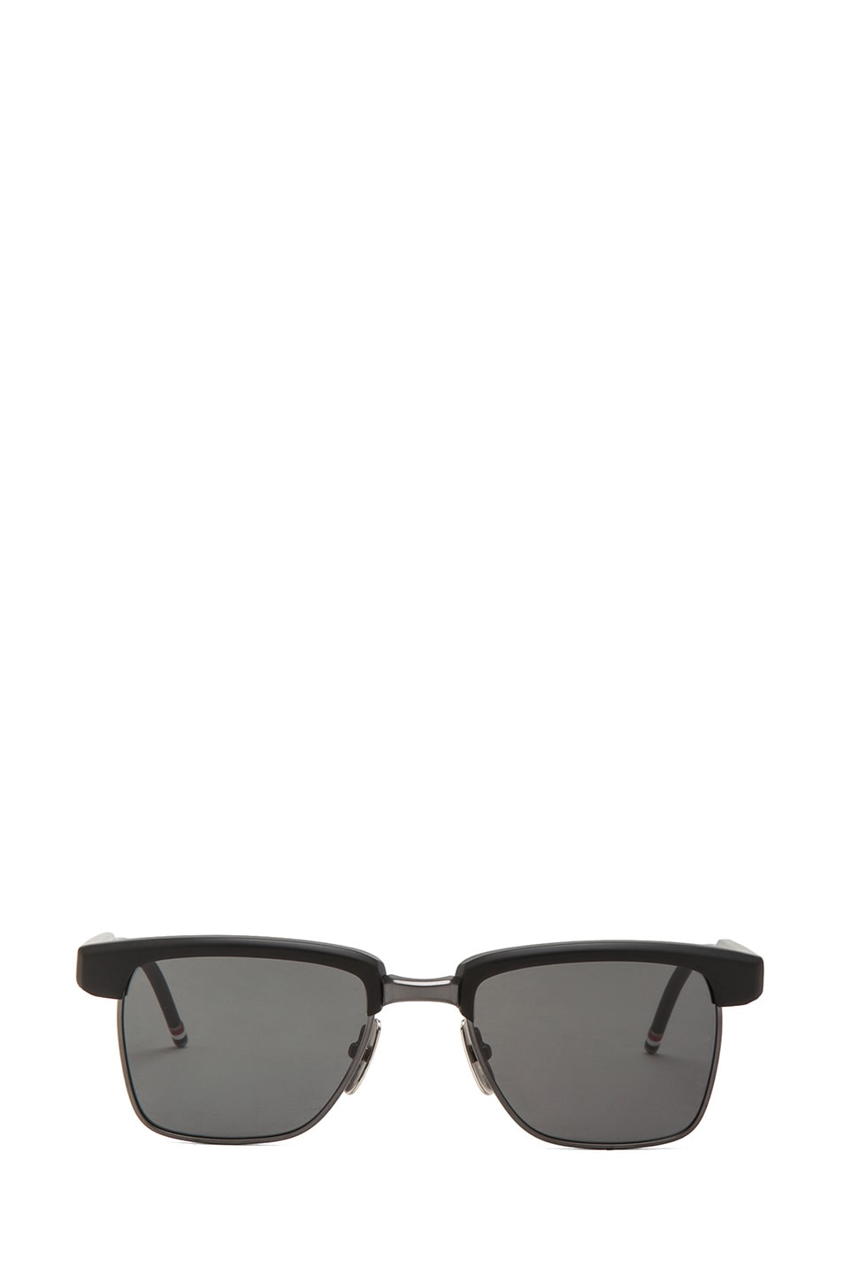Image 1 of Thom Browne Half Rimmed Sunglasses in Matte Black