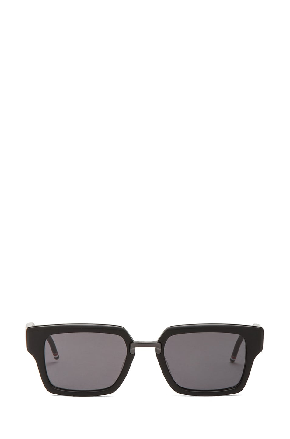 7442f3f68fc Image 1 of Thom Browne Thick Rectangle Frame Sunglasses in Matte Black