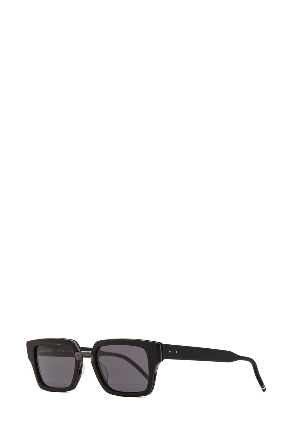 e97c63e9ab5d Image 2 of Thom Browne Thick Rectangle Frame Sunglasses in Matte Black