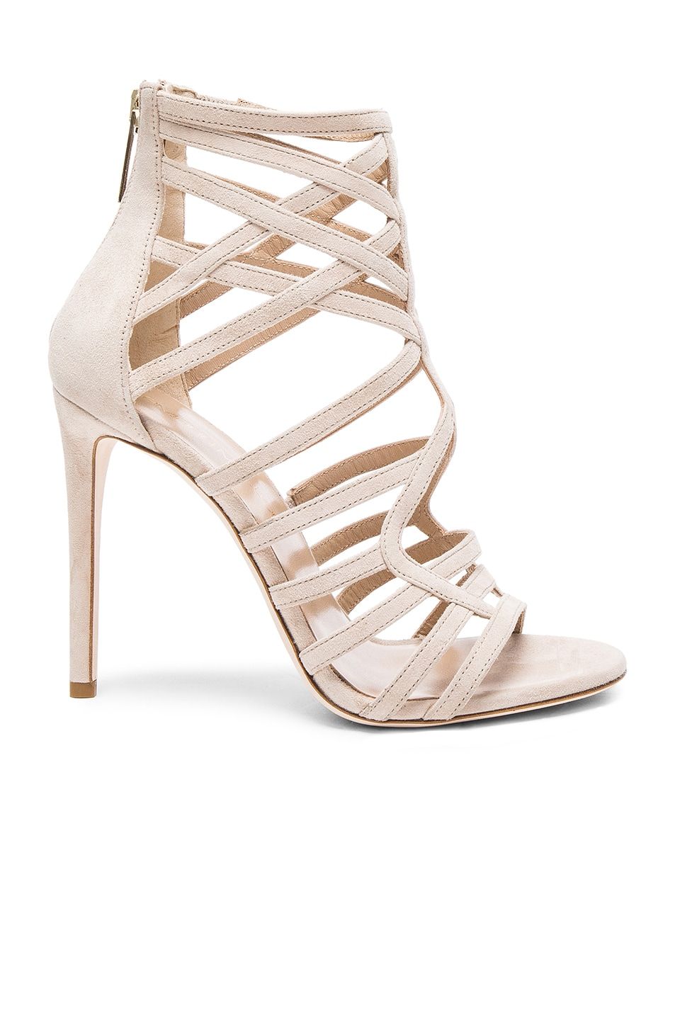 Image 1 of Tamara Mellon Goddess Nappa & Suede Sandals in Nude