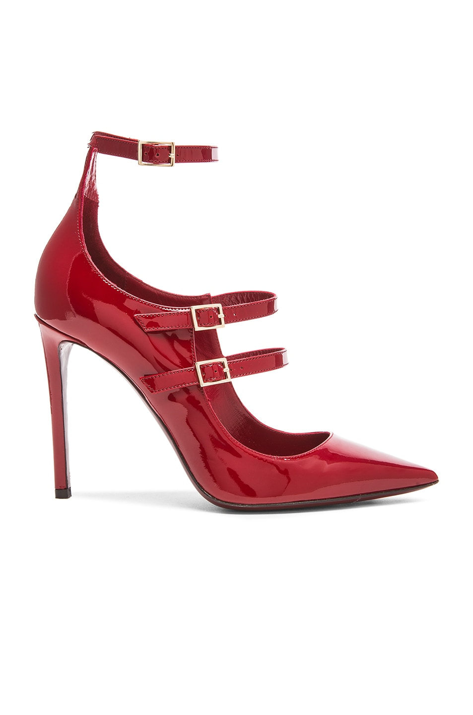Image 1 of Tamara Mellon Possession Patent Leather Heels in Red