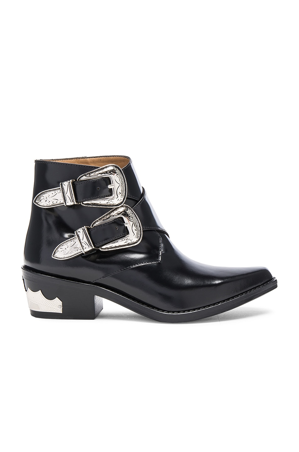 Image 1 of TOGA PULLA Polished Leather Booties in Black